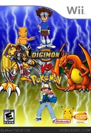 digimon vs pok233mon box art cover