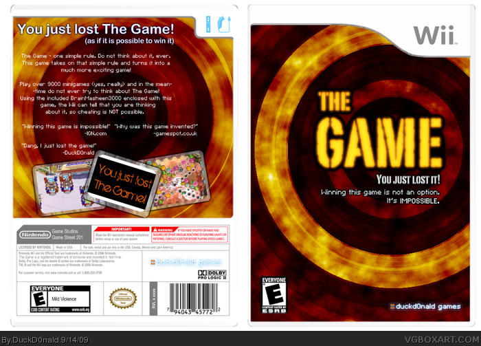 The Game box art cover