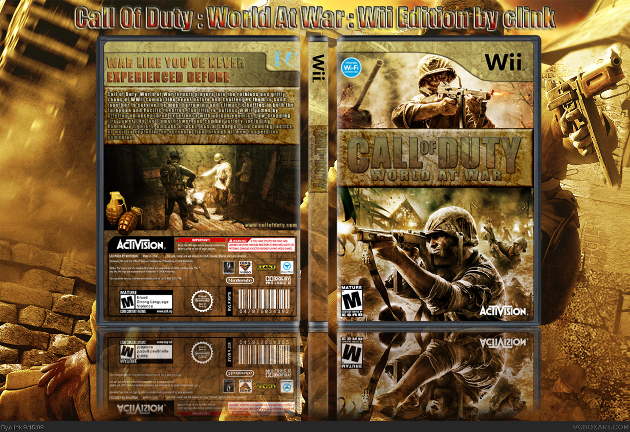 Call Of Duty : World At War box cover