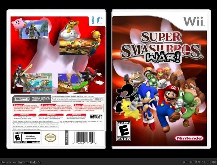 Wii » Super Smash Bros: WAR! Box Cover
