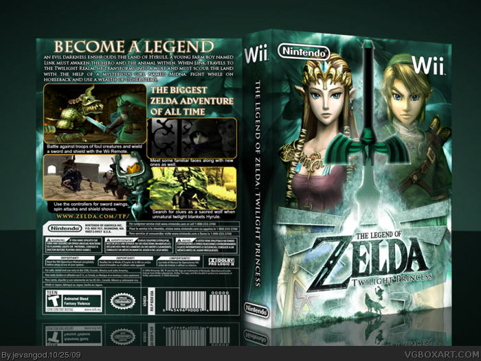 The Legend of Zelda Twilight Princess Box Cover Comments