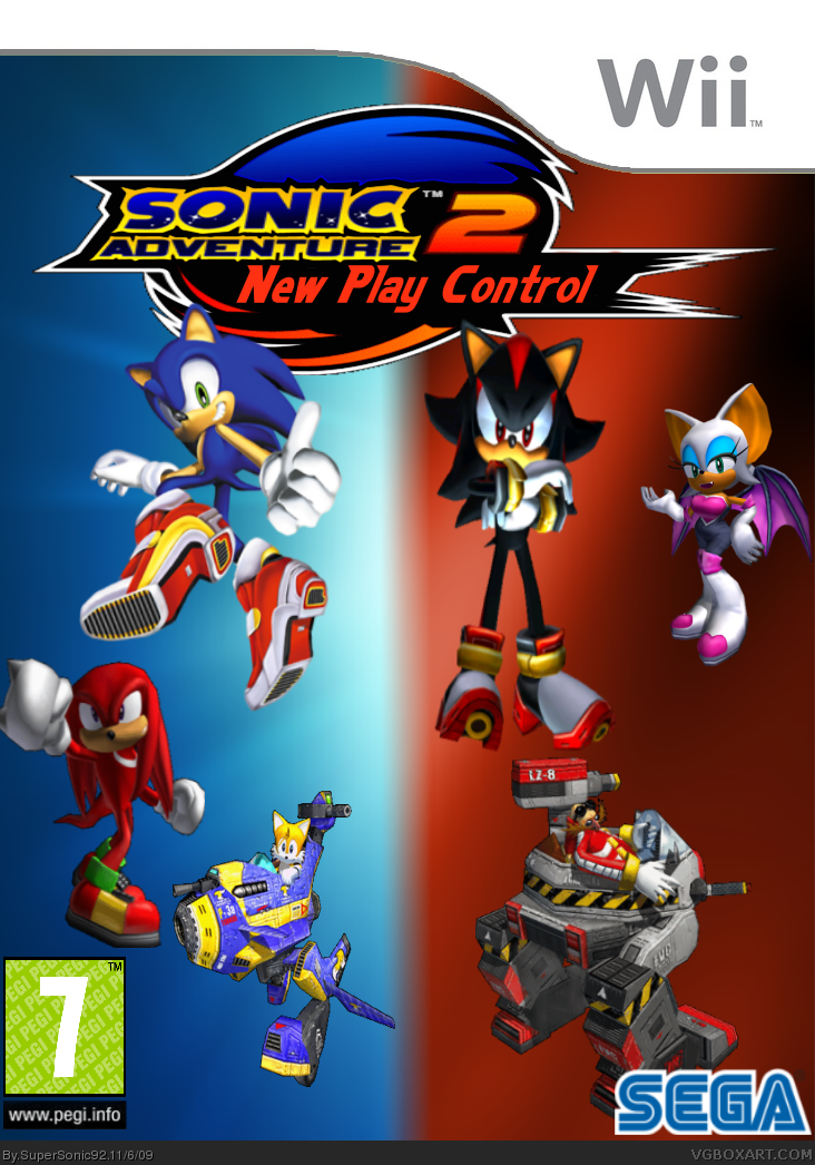 Sonic Adventure 2 Wii Wii Box Art Cover By Supersonic92
