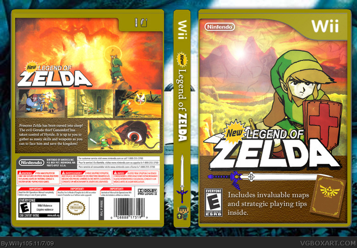 New Legend of Zelda box art cover
