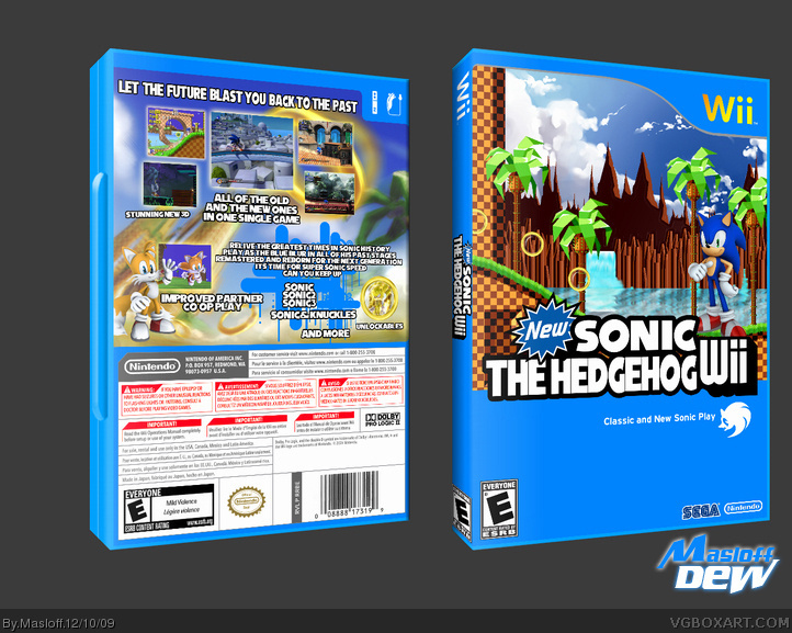 Wii » New Sonic the Hedgehog Wii Box Cover