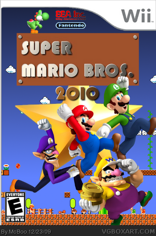 Super Mario Bros. 2010 box cover