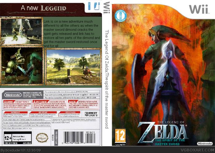 The Legend Of Zelda:The Spirit Of The Master Sword box art cover