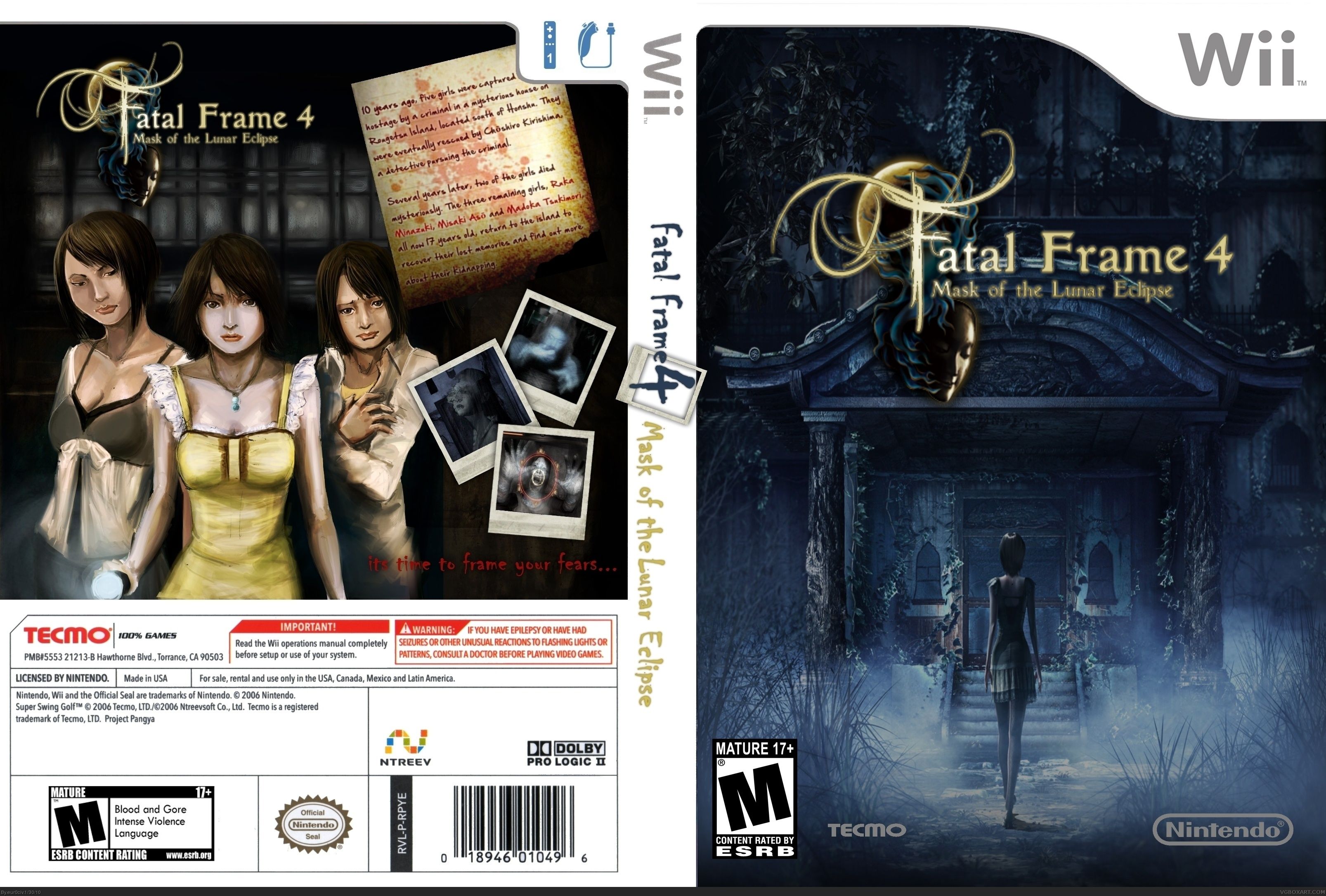 Viewing full size Fatal Frame 4 mask of the Lunar Eclipse box cover