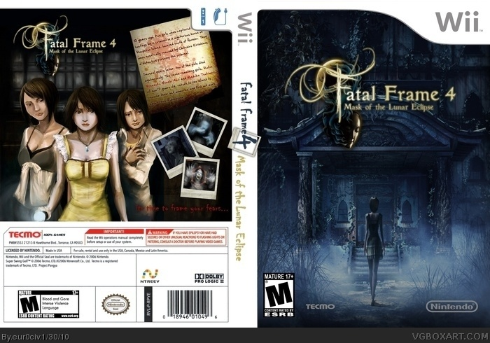Fatal Frame 4 mask of the Lunar Eclipse Wii Box Art Cover by eur0civ