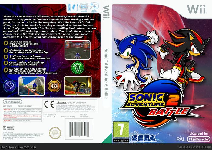 Sonic Adventure 2 Wii Wii Box Art Cover by Artemicion