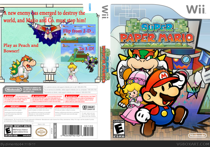 how to play super paper mario wii