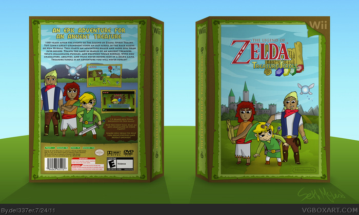The Legend of Zelda: Tresure Scroll box art cover