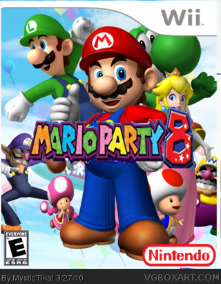 mario party 8 wii box art cover by mystictikal. Black Bedroom Furniture Sets. Home Design Ideas