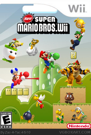 New Super Mario Bros. Wii box cover