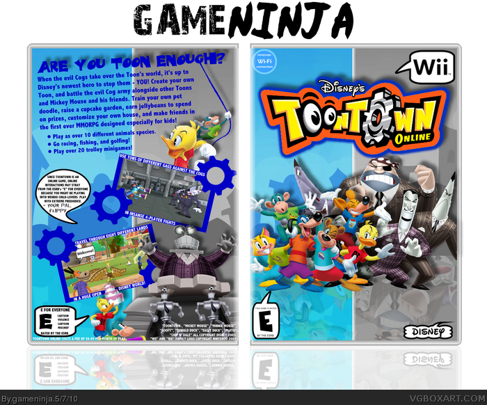 ToonTown Online box art cover