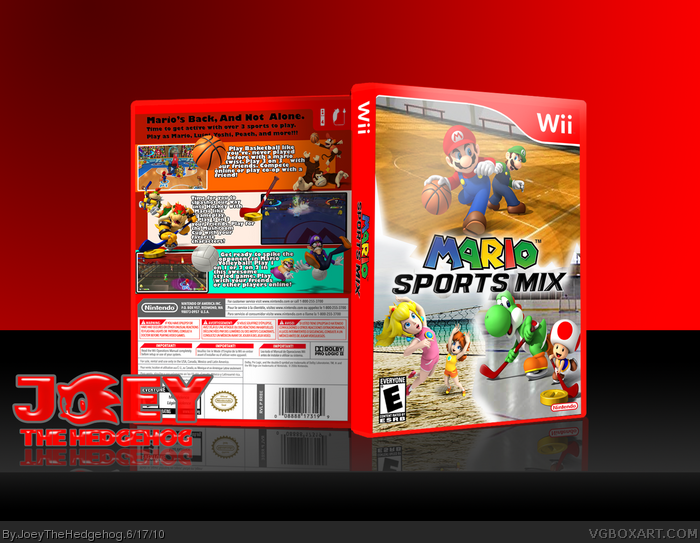 mario sports mix wii box art cover by joeythehedgehog. Black Bedroom Furniture Sets. Home Design Ideas