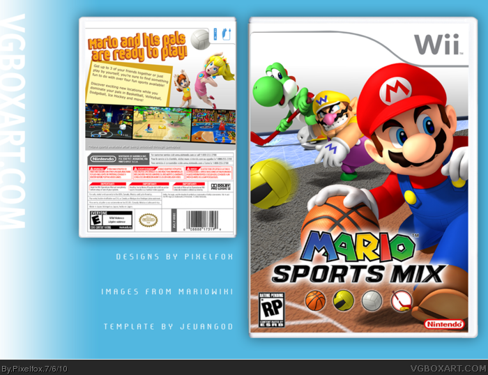 mario sports mix wii box art cover by pixelfox. Black Bedroom Furniture Sets. Home Design Ideas