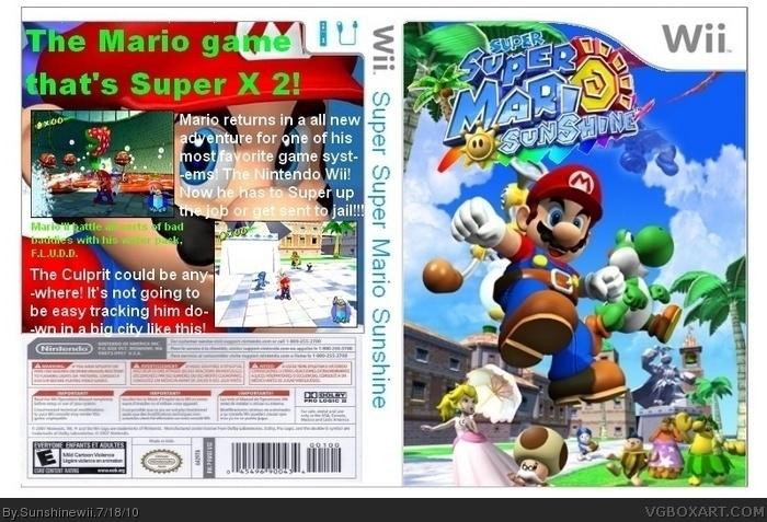 Super Super Mario Sunshine Wii Box Art Cover By Sunshinewii