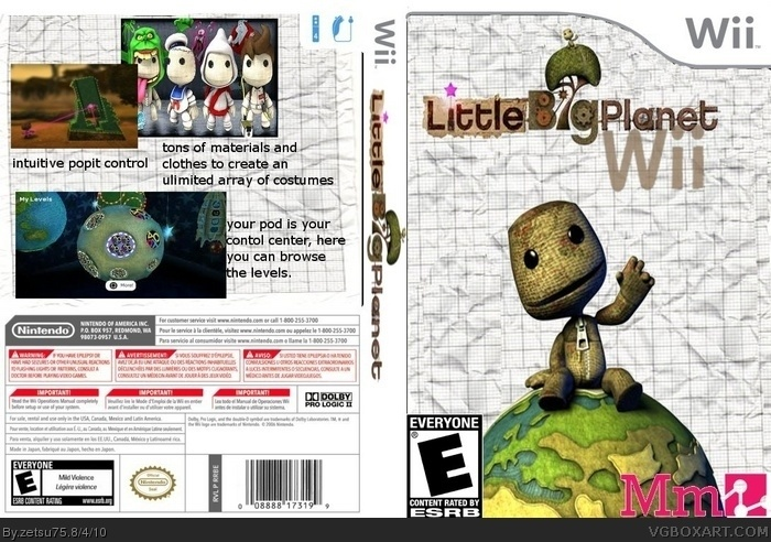 Little Big Planet Wii Box Art Cover By Zetsu75
