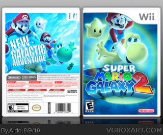 Super Mario Galaxy 2 box cover