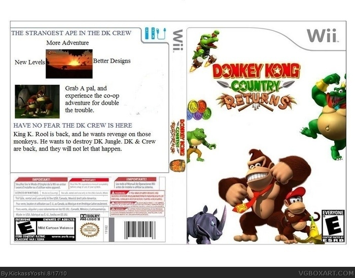 Wii » Donkey Kong Country Returns Box Cover