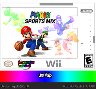 mario sports mix wii box art cover by jankip. Black Bedroom Furniture Sets. Home Design Ideas