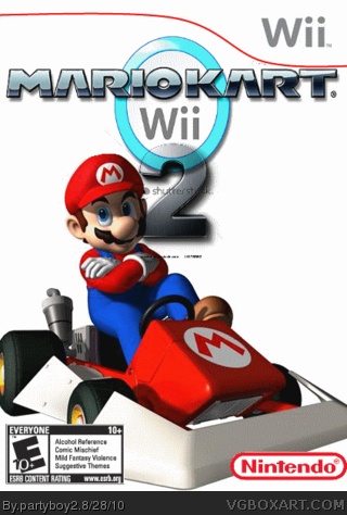 mario kart wii 2 wii box art cover by partyboy2. Black Bedroom Furniture Sets. Home Design Ideas
