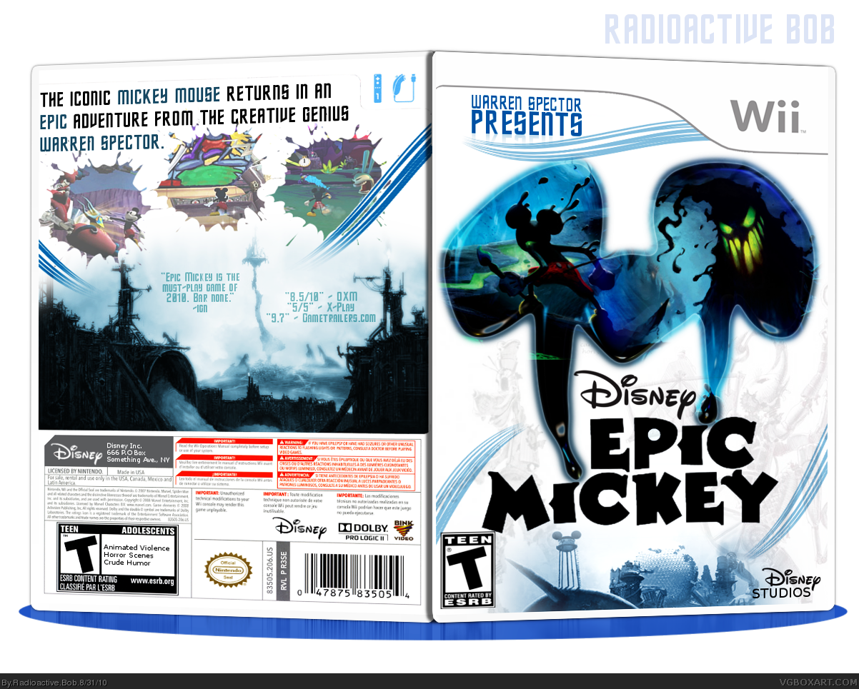 Epic Mickey box cover