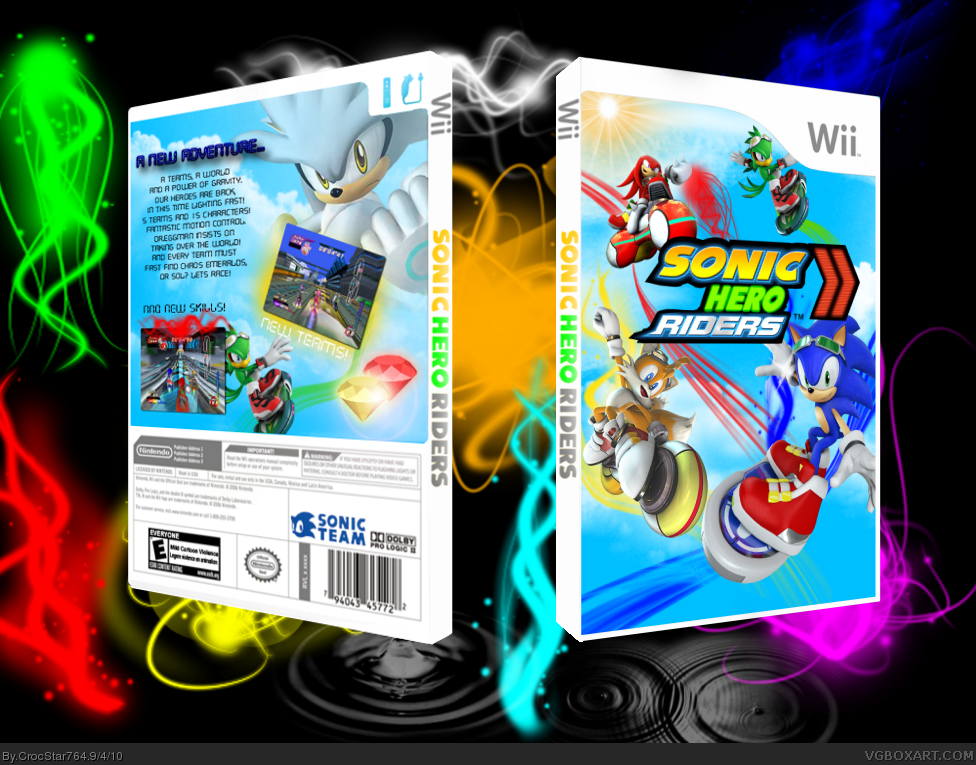 Sonic Hero Riders box cover
