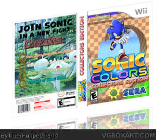 Sonic Colors- Collectors Edition box cover