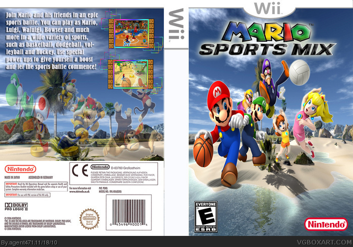mario sports mix wii box art cover by agent471. Black Bedroom Furniture Sets. Home Design Ideas