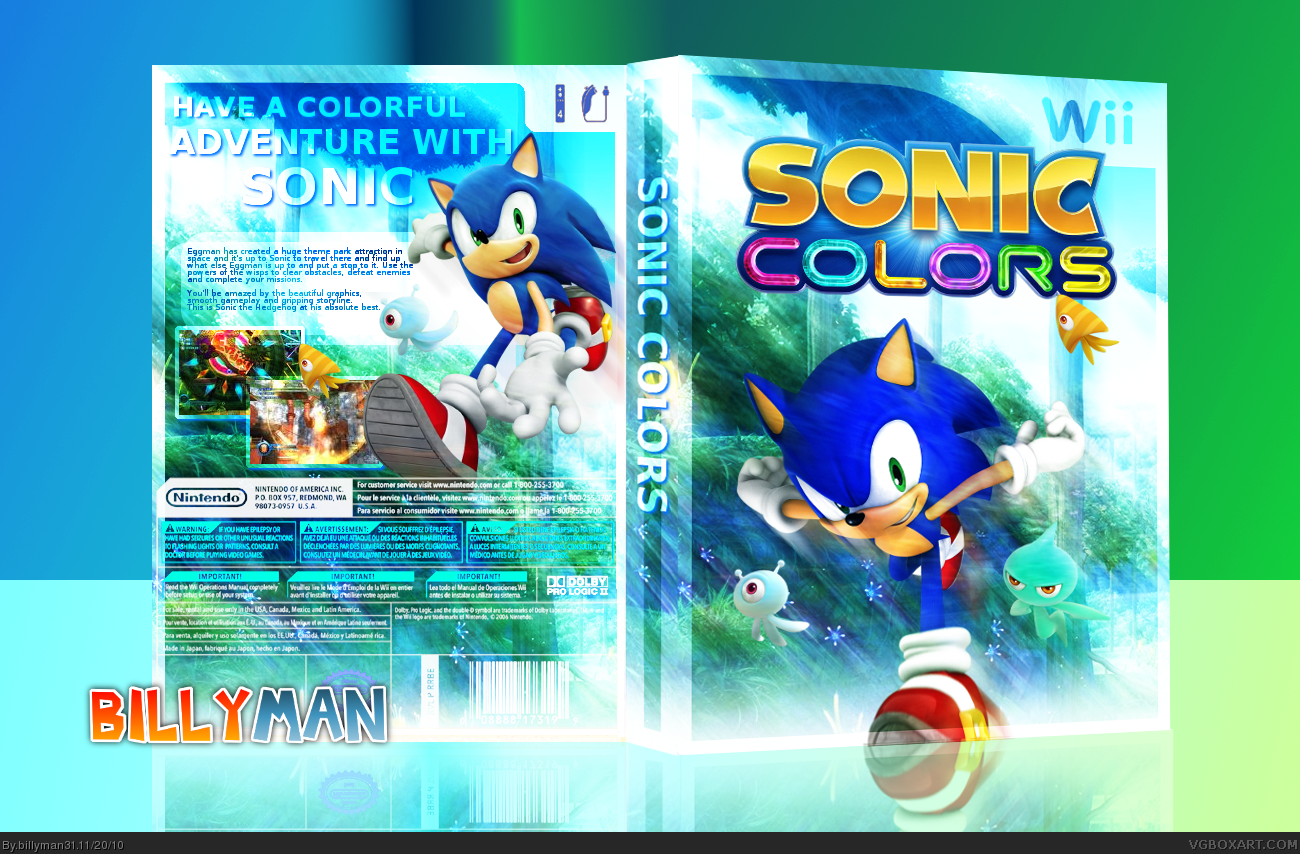 Sonic Colors box cover