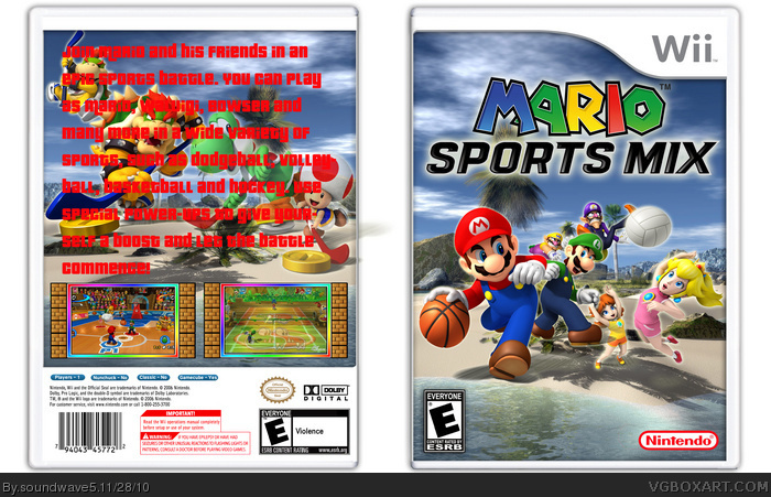 mario sports mix wii box art cover by soundwave5. Black Bedroom Furniture Sets. Home Design Ideas
