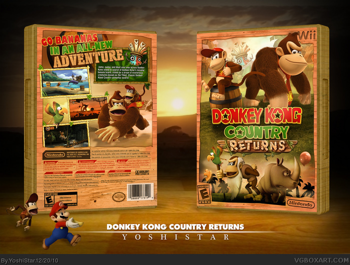 Donkey Kong Country Returns box art cover