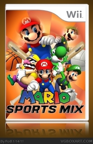 mario sports mix wii box art cover by rob. Black Bedroom Furniture Sets. Home Design Ideas