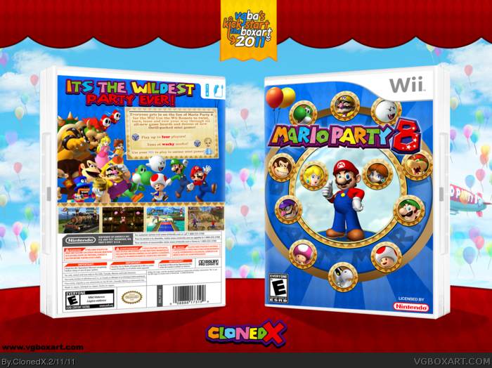Mario Party 8 Wii Box Art Cover By Clonedx