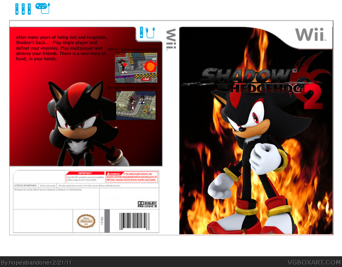 Wii » Shadow the Hedgehog 2 Box Cover