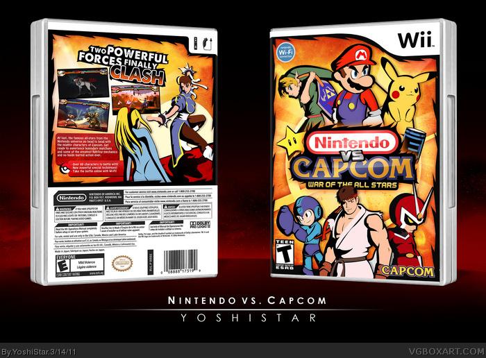 Genesis 38 8 >> Nintendo vs. Capcom Wii Box Art Cover by YoshiStar