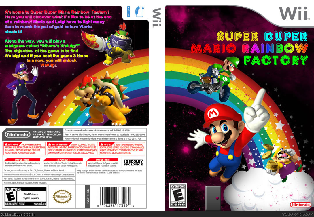 Viewing Full Size Super Duper Mario Rainbow Factory Box Cover