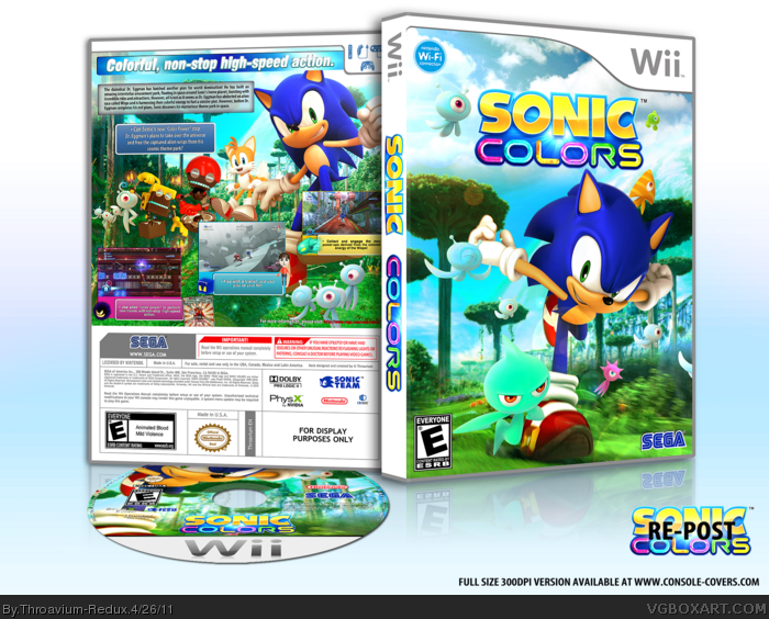 Sonic Colors box art cover