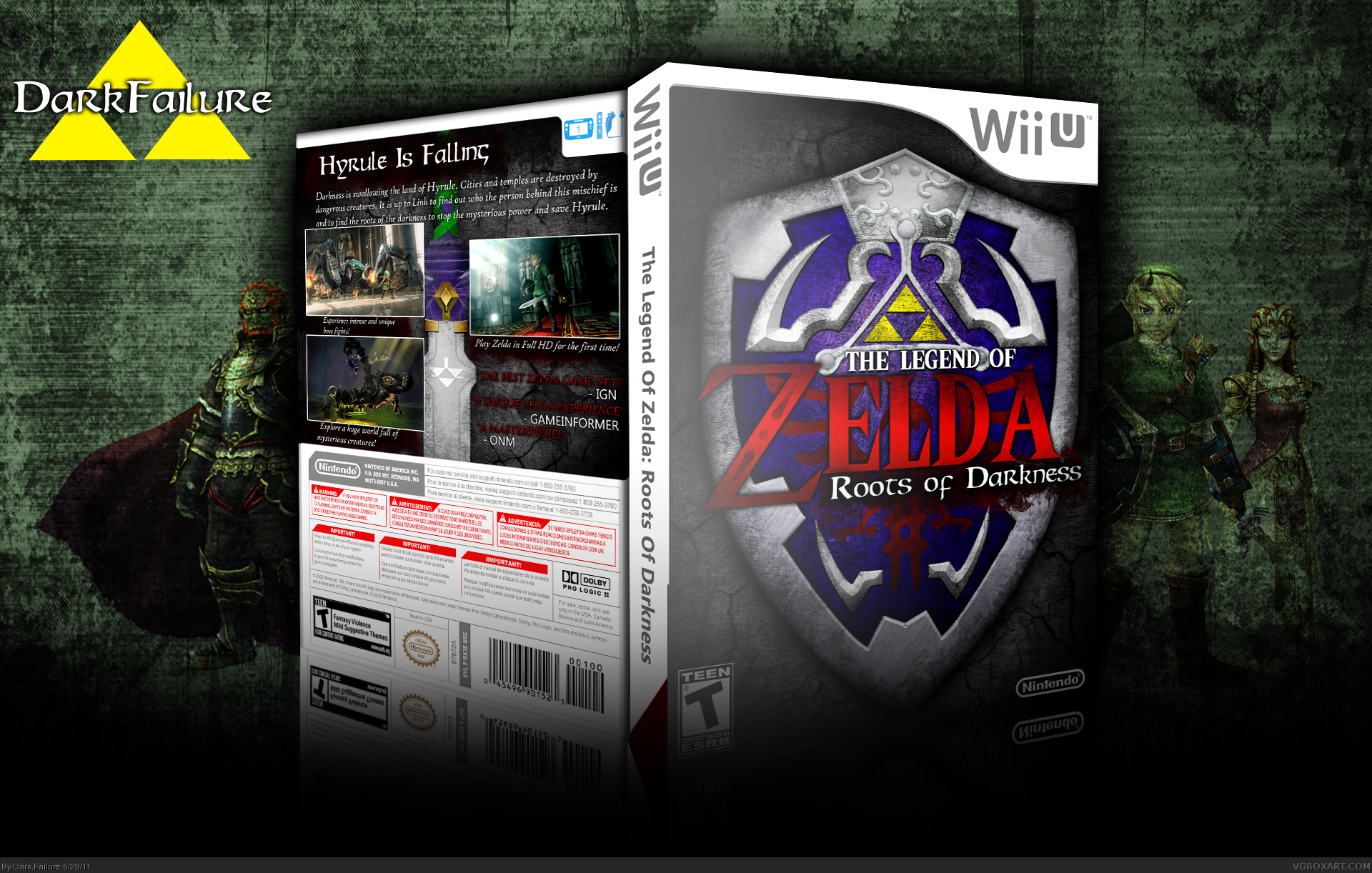 The Legend Of Zelda: Roots Of Darkness box cover