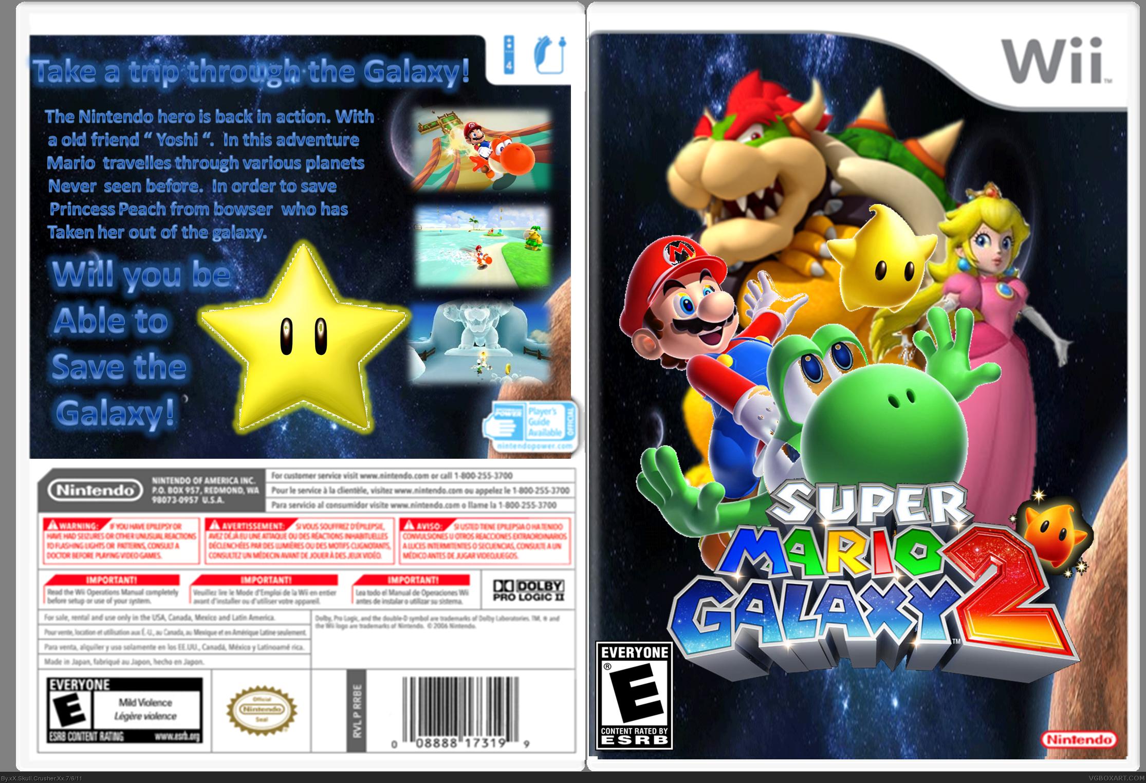 Genesis 38 8 >> Super Mario Galaxy 2 Wii Box Art Cover by xX Skull Crusher Xx