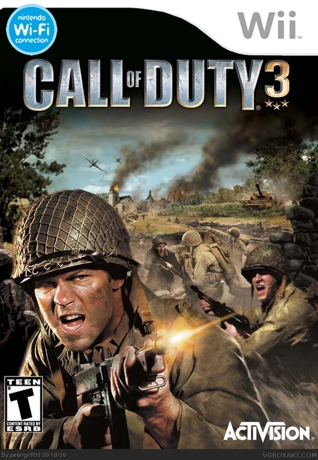 Call Of Duty 3 Wii Box Art Cover By Petergriff06