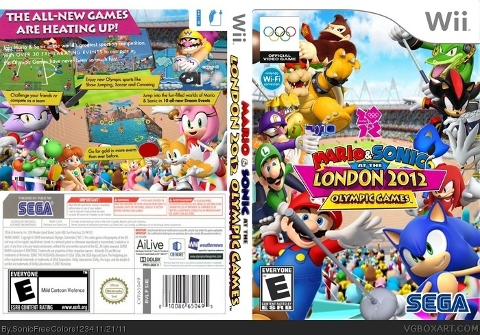 Mario and Sonic at the London 2012 Olympic Games Wii Box ...
