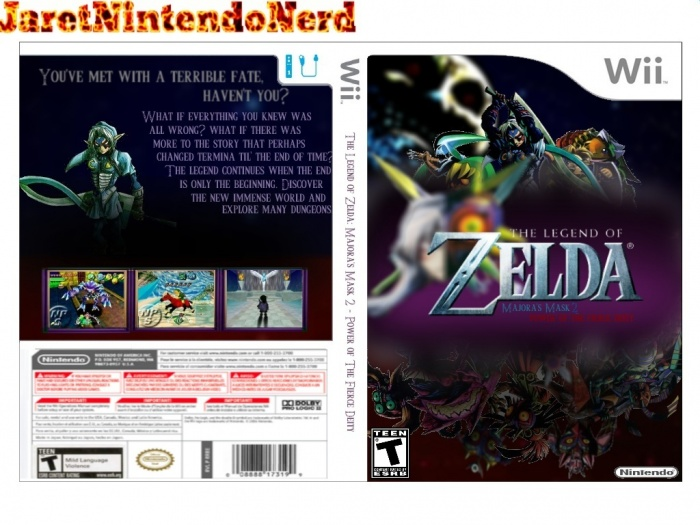 Wii » The Legend of Zelda: Majora's Mask 2 Box Cover