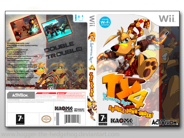 TY the Tasmanian Tiger 4: Rumble Down Under! box art cover