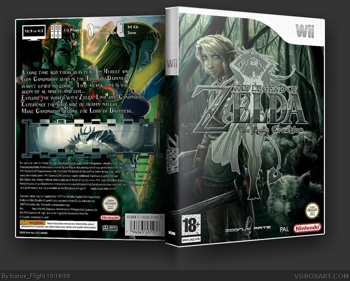 The Legend of Zelda: The Holy Creation (Game) box art cover