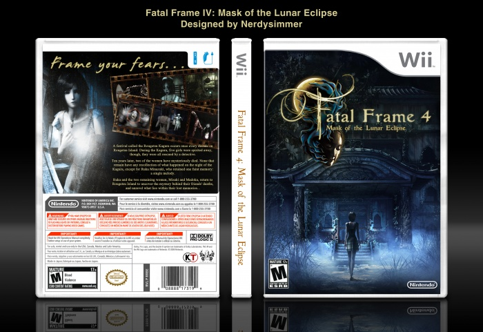 Fatal Frame IV: Mask of the Lunar Eclipse Wii Box Art Cover by ...