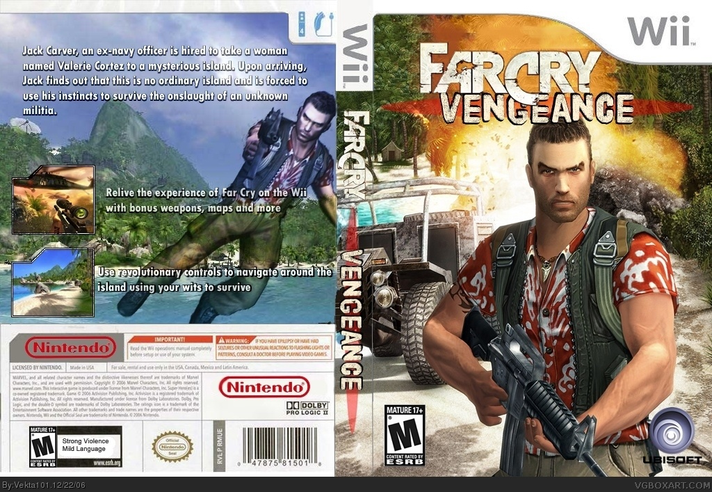 Far Cry Vengeance Wii Box Art Cover By Vekta101