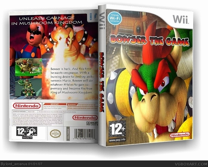Bowser: The Game box cover