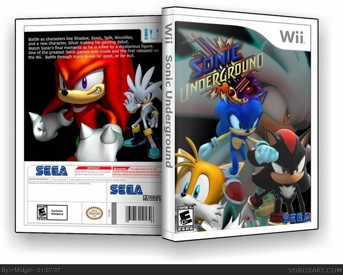 Sonic Underground Wii Box Art Cover by ~Midgit~